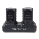 Statie incarcare (dock) pt 2 baterii externe Critical+ adaptor EU