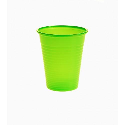 Set 100 pahare unica folosinta Verde deschis