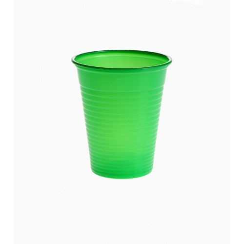 Set 100 pahare unica folosinta Verde inchis