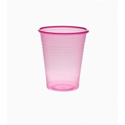 Set 100 pahare unica folosinta Roz