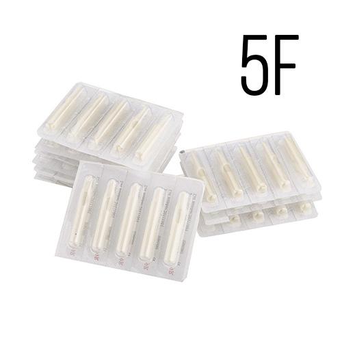 Set 50 varfuri plastic albe 5F